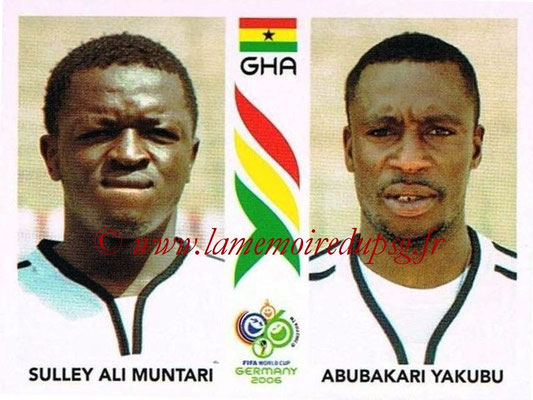 2006 - Panini FIFA World Cup Germany Stickers - N° 318 - Sulley Ali MUNTARI + Abubakari YAKUBU (Ghana)