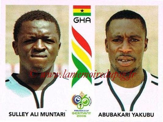 2006 - Panini FIFA World Cup Germany Stickers - N° 318 - Sulley Ali MUNTARI + Abubakari YAKUBU (Ghana)