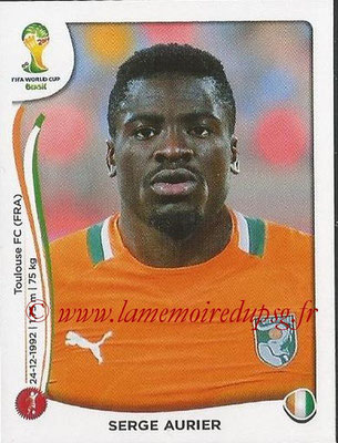 2014 - Panini FIFA World Cup Brazil Stickers - N° 226 - Serge AURIER (Côte d'Ivoire)