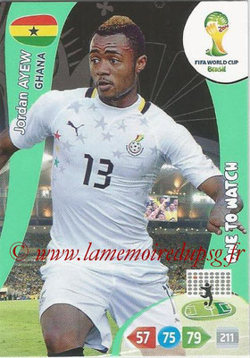 2014 - Panini FIFA World Cup Brazil Adrenalyn XL - N° 177 - Jordan AYEW (Ghana) (One to watch)