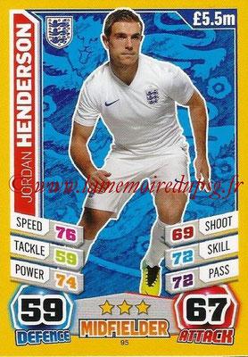 Topps Match Attax England 2014 - N° 095 - Jordan HENDERSON (Angleterre)
