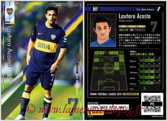 Panini Football League 2013 - PFL02 - N° 084 - Lautaro Acosta ( C.A. Boca Juniors )