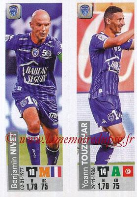 2018-19 - Panini Ligue 1 Stickers - N° 559 - Benjamin NIVET + Yoann TOUZGHAR (ESTAC Troyes)
