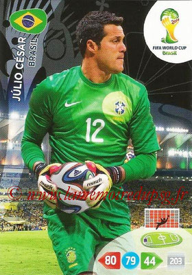 2014 - Panini FIFA World Cup Brazil Adrenalyn XL - N° 047 - Julio CESAR (Brésil)