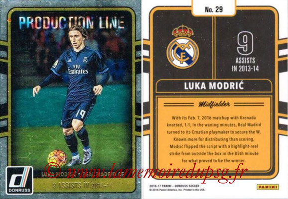 2016 - Panini Donruss Cards - N° PL29 - Luka MODRIC (Real Madrid CF) (Production Line)