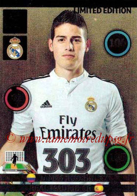 2014-15 - Adrenalyn XL champions League N° LE-JR - James RODRIGUEZ (Real Madrid) (Limited Edition)