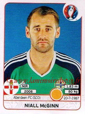 Panini Euro 2016 Stickers - N° 336 - Niall McGINN (Irlande du Nord)