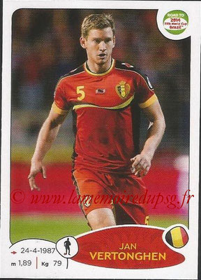 2014 - Panini Road to FIFA World Cup Brazil Stickers - N° 261 - Jan VERTONGHEN (Belgique)