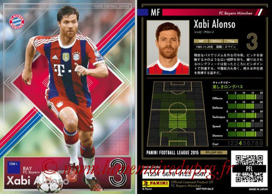 Panini Football League 2015 - PFL09P - N° 009 - Xabi ALONSO (Bayern Munich) (Star +)
