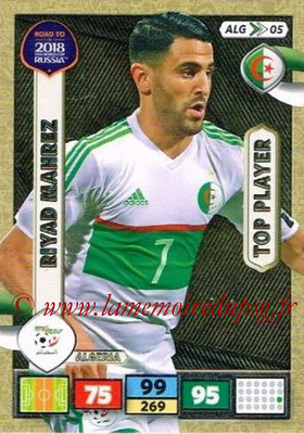 2018 - Panini Road to FIFA World Cup Russia Adrenalyn XL - N° ALG05 - Riyad MAHREZ (Algérie) (Top Player)