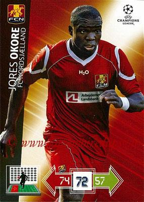 2012-13 - Adrenalyn XL champions League N° 173 - Jores OKORE (FC Nordsjaelland)