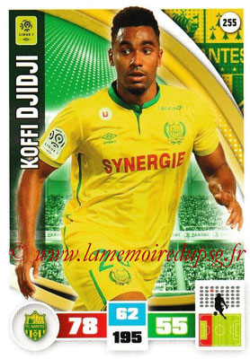 2016-17 - Panini Adrenalyn XL Ligue 1 - N° 255 - Koffi DJIDJI (Nantes)