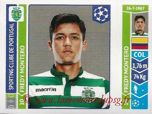 2014-15 - Panini Champions League N° 534 - Fredy MONTERO (Sporting Club de Portugal)