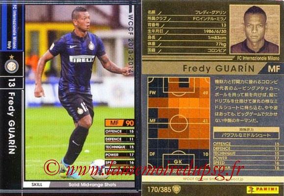 2013-14 - WCCF - N° 170 - Fredy GUARIN (Inter Milan)