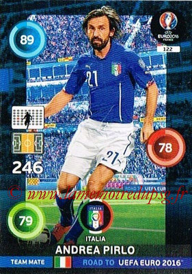 Panini Road to Euro 2016 Cards - N° 122 - Andrea PIRLO (Italie)
