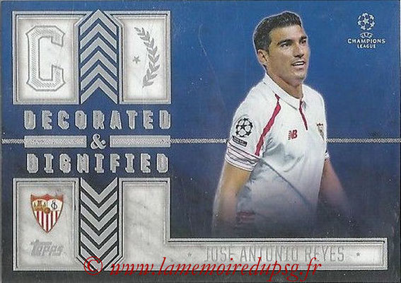 2015-16 - Topps UEFA Champions League Showcase Soccer - N° DD-JR - José Antonio REYES (FC Seville) (Decorated and Dignified)