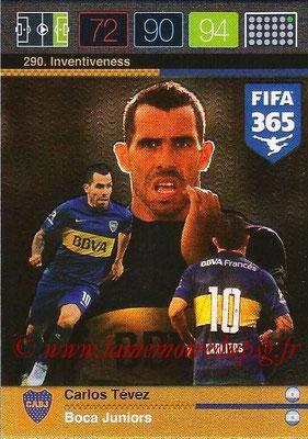 2015-16 - Panini Adrenalyn XL FIFA 365 - N° 290 - Carlos TEVEZ (Boca Juniors) (Inventiveness)