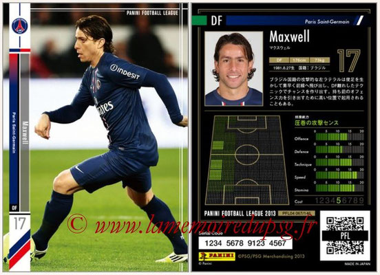 Panini Football League 2013 - PFL04 - N° 067 - MAXWELL (Paris Saint-Germain)