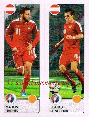 Panini Euro 2016 Stickers - N° 653 - Martin HARNIK + Zlatko JUNUZOVIC (Autriche)