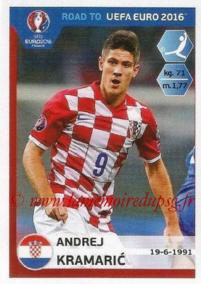 Panini Road to Euro 2016 Stickers - N° 142 - Andrej KRAMARIC (Croatie)