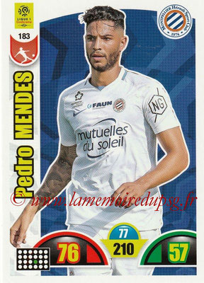 2018-19 - Panini Adrenalyn XL Ligue 1 - N° 183 - Pedro MENDES (Montpellier)