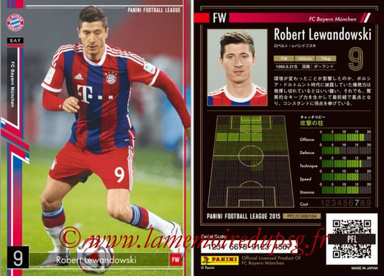 Panini Football League 2015 - PFL12 - N° 068 - Robert LEWANDOWSKI (Bayern Munich)