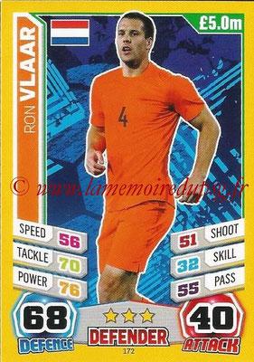 Topps Match Attax England 2014 - N° 172 - Ron VLAAR (Pays-Bas)