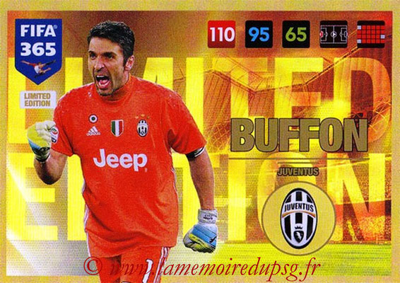 2016-17 - Panini Adrenalyn XL FIFA 365 - N° LE38 - Gianluigi BUFFON (Juventus FC) (Limited Edition)