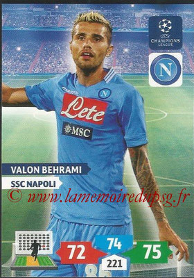 2013-14 - Adrenalyn XL champions League N° 197 - Valon BEHRAMI (SSC Napoli)