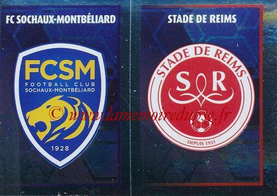 2017-18 - Panini Ligue 1 Stickers - N° 565 - Ecussons Stade de Reims + FC Sochaux-Montbéliard