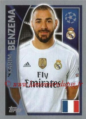 2015-16 - Topps UEFA Champions League Stickers - N° 044 - Karim BENZEMA (Real Madrid CF)
