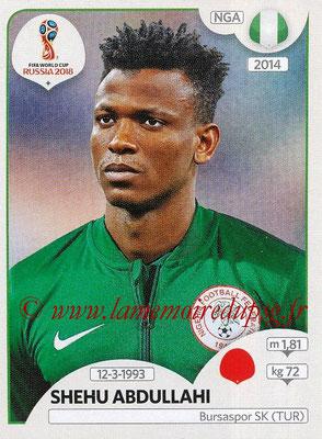 2018 - Panini FIFA World Cup Russia Stickers - N° 336 - Shehu ABDULLAHI (Nigeria)