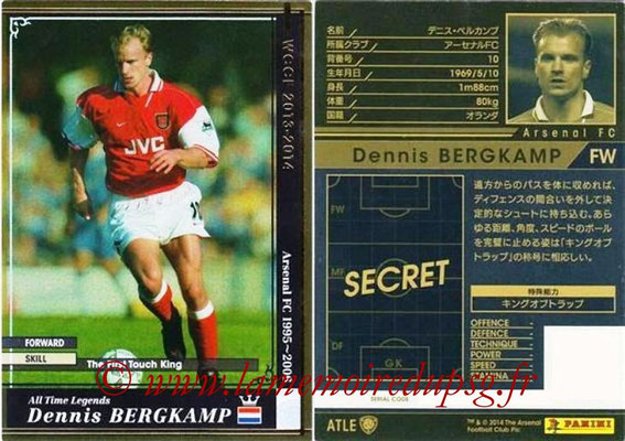 2013-14 - WCCF - N° ATLE07 - Dennis BERGKAMP (Arsenal FC) (All Time Legend)