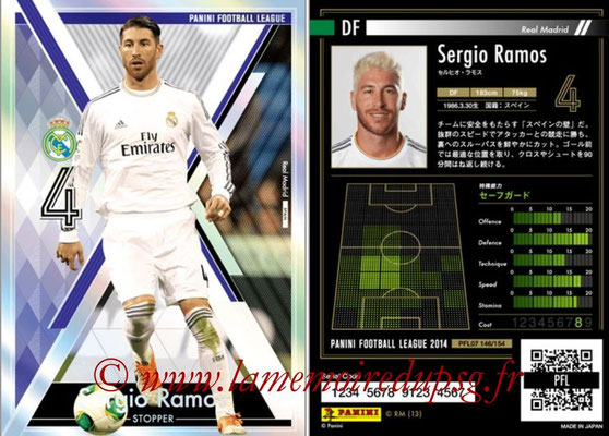 Panini Football League 2014 - PFL07 - N° 146 - Sergio RAMOS (Real Madrid) (Stopper)