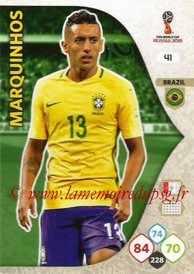2018 - Panini FIFA World Cup Russia Adrenalyn XL - N° 041 - MARQUINHOS (Brésil)