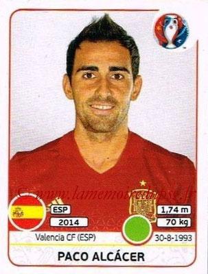Panini Euro 2016 Stickers - N° 372 - Paco ALCACER (Espagne)