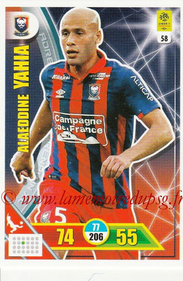 2017-18 - Panini Adrenalyn XL Ligue 1 - N° 058 - Alaeddine YAHIA (Caen)