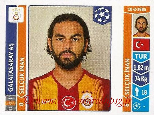 2014-15 - Panini Champions League N° 294 - Selcuk INAN (Galatasaray AS)
