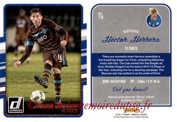 2016 - Panini Donruss Cards - N° 078 - Hector HERRERA (FC Porto)