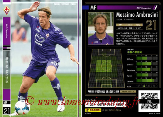 Panini Football League 2014 - PFL08 - N° 032 - Massimo AMBROSINI (Fiorentina)