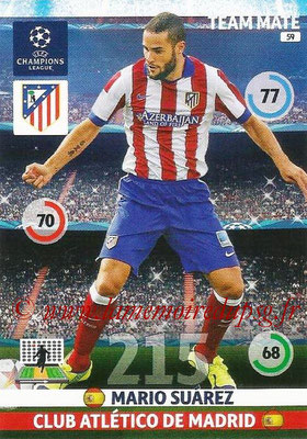 2014-15 - Adrenalyn XL champions League N° 059 - Mario SUAREZ (Atletico Madrid)