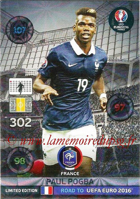 Panini Road to Euro 2016 Cards - N° LE-PP - Paul POGBA (France) (Limited Edition)