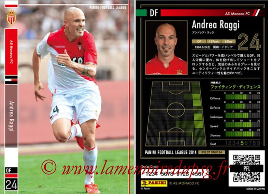 Panini Football League 2014 - PFL07 - N° 076 - Andrea RAGGI (AS Monaco)