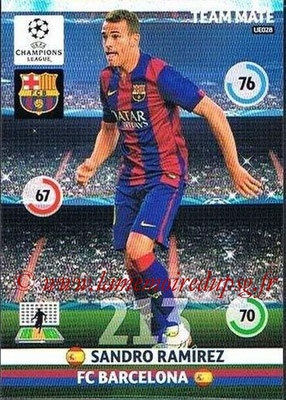 2014-15 - Adrenalyn XL champions League Update edition N° UE028 - Sandro RAMIREZ (FC Barcelone)