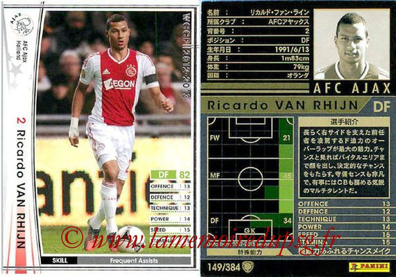 2012-13 - WCCF - N° 149 - Ricardo VAN RHIJN (AFC Ajax)