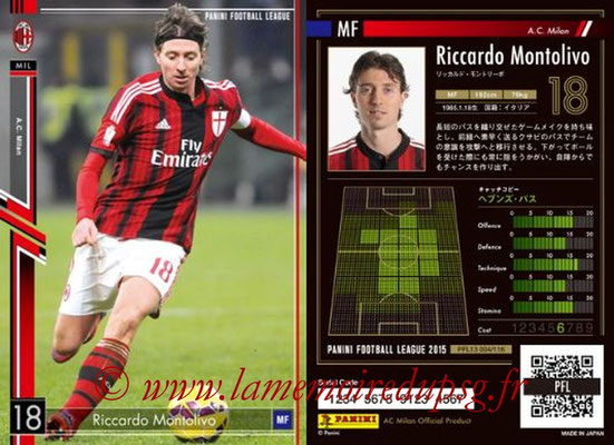 Panini Football League 2015 - PFL13 - N° 004 - Riccardo MONTOLIVO (Milan AC)