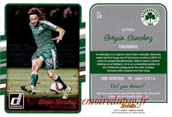 2016 - Panini Donruss Cards - N° 028 - Sergio SANCHEZ (Panathinaikos)