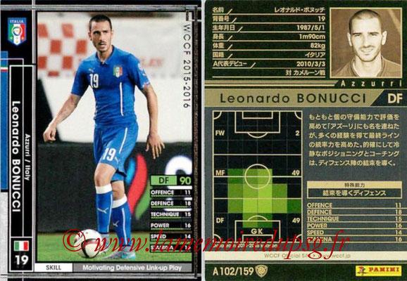 2015-16 - Panini WCCF - N° A102 - Leonardo BONUCCI (Italie)