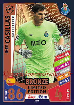 2017-18 - Topps UEFA Champions League Match Attax - N° LE6B - Iker CASILLAS (FC Porto) (Limited Edition Bronze)