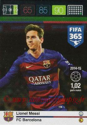 2015-16 - Panini Adrenalyn XL FIFA 365 - N° 163 - Lionel MESSI (FC Barcelone) (Goal Machine)